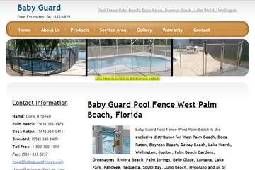 Baby Guard Pool Fences